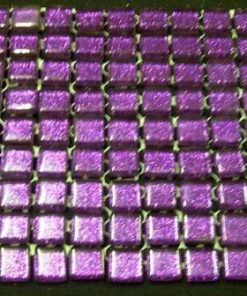 MINI Purple (GLITTER) - 10 or 11 mm ( Sheet Sizes the Same )