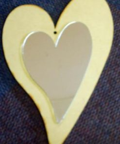 Heart 6 mm & Mirror Finish Heart (431 x 279 mm ) (MR09)