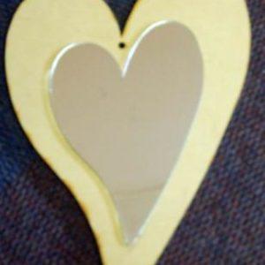 Heart 6 mm & Mirror Finish Heart (431 x 279 mm ) (MR09)
