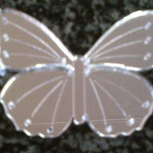 Mirror Butterfly with Detail 55 x 43 mm (MF04)