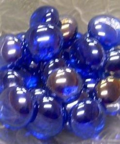 Pebbles - Dark Blue - Approx Size:- 15 mm