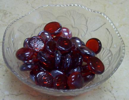 Pebbles - Red - Approx Size:- 15 mm
