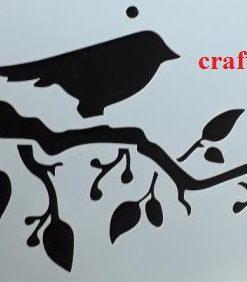 Birds on a Branch  ( Sani 08 )  Size:- 285 x 168 mm