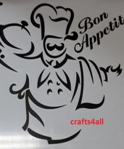 Chef with Bon Appetit ( Sfan 10 )  Size:- 230 x 250 mm