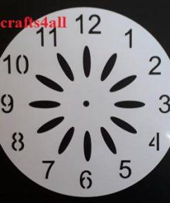 Clock ( Sfanc 07 )  Size:- 250 x 250 mm