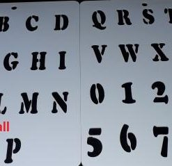 Alphabet A - Z - Numbers 0 - 9  ( Swor 12 )  Size:- 210 x 290 mm