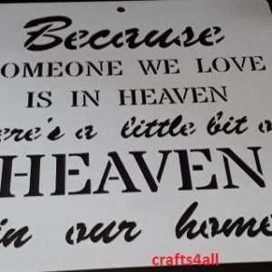 Because Someone we .... ( Swor 13 )  Size:- 250 x 250 mm