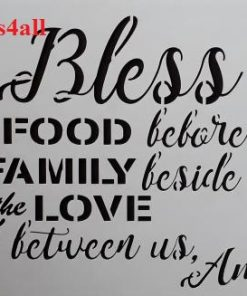 Bless the Food ( Swor 30 )  Size:- 300 x 220 mm