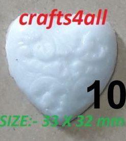 Heart ( Fancy ) 33 x 32 mm  - Weight 25 gr