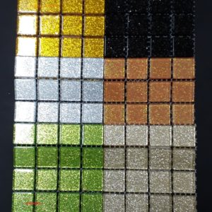 Crystal (Glitter) Tile Size:- 23 x 23 x 4 mm - Sheet Size 100 x 100 mm