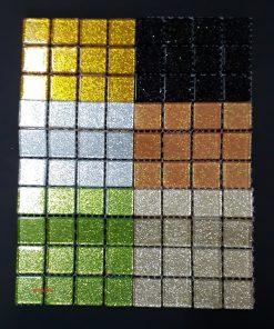 Crystal (Glitter) Tile Size:- 23 x 23 x 4 mm - Sheet Size 100 x 100 mm