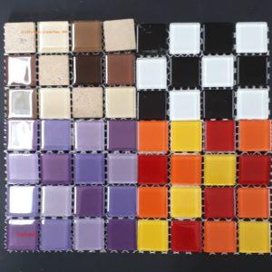 Crystal (Plain & Mix) Tile Size:- 23 x 23 x 4 mm - Sheet Size 100 x 100 mm