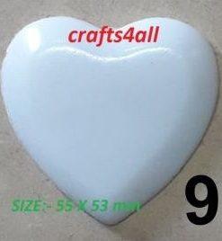 Heart ( Plain ) 55 x 53 mm  - Weight 35 gr
