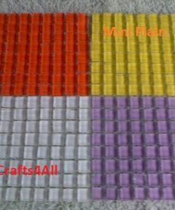 Mini Crystal (Plain) Tile Size:- 10 x 10 x 4 mm - Sheet Size 100 x 100 mm