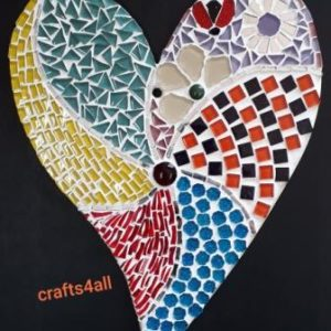 """ MOSAIC ""  Heart 275 x 230 mm (Cutting & Nibbling Techniques)"