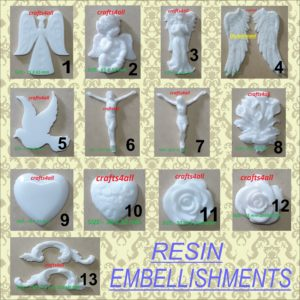 Resin Embellishments ( MADE TO ORDER - ALLOW 7 Working Days ) - RESIN ( Liquid Glass Available )