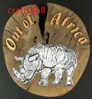 """"""" Out of Africa """" Approx Size:- 180 x 35 mm with Metal Embossing"""