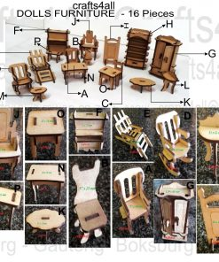 Dolls Furniture (Wood) - Miniature